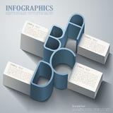 Vector abstract 3d infographics Stock Images