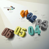 Vector abstract 3d number infographics. Vector abstract 3d number infographic elements royalty free illustration