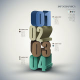 Vector abstract 3d number infographics. Vector abstract 3d number infographic elements stock illustration