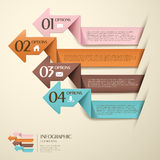 Vector abstract 3d origami paper infographics. Vector abstract 3d origami paper infographic elements Stock Illustration