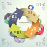 Vector abstract 3d origami paper infographics Royalty Free Stock Photos