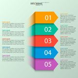 Abstract 3D Paper Infographics. Vector abstract 3d paper infographic elements.Business infographics.Ribbons infographic design royalty free illustration