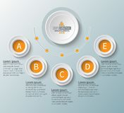 Abstract 3D Paper Infographics. Business template .Vector illustration. Vector abstract 3d paper infographic elements.Circular infographics stock illustration