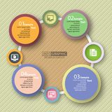 Abstract 3D Paper Infographics. Vector abstract 3d paper infographic elements.Circular infographics Stock Image