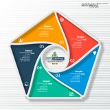 Abstract 3D Paper Infographics. Vector abstract 3d paper infographic elements.Circular infographics vector illustration