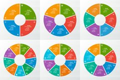 Abstract 3D Paper Infographics. Vector abstract 3d paper infographic elements.Circular infographics.Vector circle infographics set vector illustration