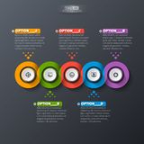 Abstract 3D Paper Infographics. Vector abstract 3d paper infographic elements.Dark design.Business infographics Vector Illustration
