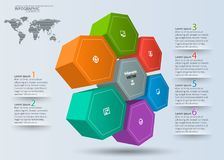 Abstract 3D Paper Infographics Royalty Free Stock Images