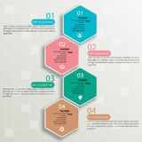 Abstract 3D Paper Infographics. Vector abstract 3d paper infographic elements.Hexagon infographics.Honeycomb design vector illustration