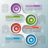 Abstract 3D Paper Infographics. Vector abstract 3d paper infographic elements.Metaball infographics.Round elements vector illustration