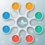 Abstract 3D Paper Infographics. Vector abstract 3d paper infographic elements.Metaball infographics.Round elements stock illustration