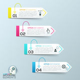 Vector abstract 3d paper infographic elements. Modern arrow business infographic banner. Vector illustration. can be used for workflow layout, diagram, number Stock Image