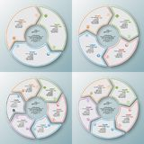 Abstract 3D Paper Infographics. Vector abstract 3d paper infographic elements.Set of circular infographics vector illustration