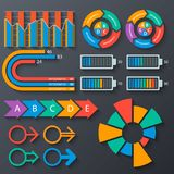 Abstract 3D Paper Infographics. Vector abstract 3d paper infographic elements.set of infographic elements.Business infographics stock illustration