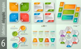 Abstract 3D Paper Infographics. Vector abstract 3d paper infographic elements.Set of infographics.Business infographics royalty free illustration