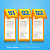 Vector abstract 3d paper infographics.  Royalty Free Stock Images