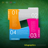 Vector abstract 3d paper infographics. Can be used for workflow layout, diagram, number options, web design Stock Photography