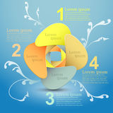 Vector abstract 3d paper infographics. Can be used for workflow layout, diagram, number options, web design Stock Photo