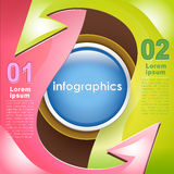 Vector abstract 3d paper infographics. Can be used for workflow layout, diagram, number options, web design stock illustration