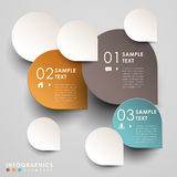 Vector abstract 3d paper infographics. Can be used for workflow layout, diagram, number options, web design Stock Image