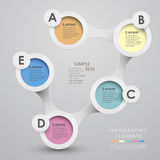 Vector abstract 3d paper infographics Royalty Free Stock Images