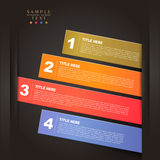 Vector abstract 3d paper infographics. Vector abstract 3d paper infographic elements royalty free illustration