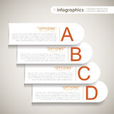 Vector abstract 3d paper infographics Royalty Free Stock Photos