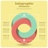 Vector abstract 3d paper infographics Stock Images