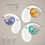 Vector abstract 3d paper infographics Royalty Free Stock Photo