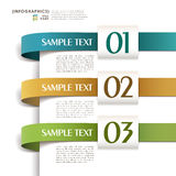Vector abstract 3d paper infographics Royalty Free Stock Image
