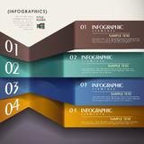 Vector abstract 3d paper infographics Stock Photos