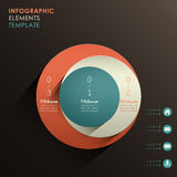 Vector abstract 3d paper infographics. Vector abstract 3d paper infographic elements Stock Image