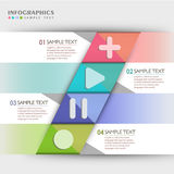 Vector abstract 3d paper infographics. Vector abstract 3d paper infographic elements stock illustration