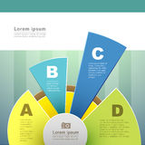 Vector abstract 3d paper infographics Stock Image
