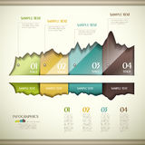 Vector abstract 3d paper infographics Stock Photo