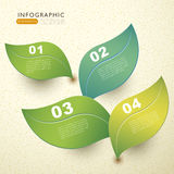 Vector abstract 3d paper leaf infographics