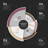 Vector abstract 3d pie chart  infographics Stock Images