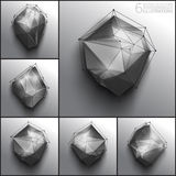 Vector abstract 3d polygons Stock Images