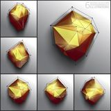 Vector abstract 3d polygons Royalty Free Stock Photo