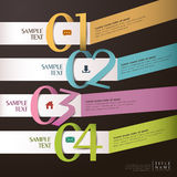 Vector abstract 3d ribbon infographics Stock Photography