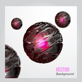 Vector Abstract 3d sphere background. Royalty Free Stock Photography