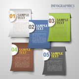 Vector abstract 3d sticky infographics. Vector abstract 3d sticky infographic elements Royalty Free Stock Photography