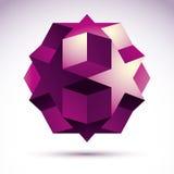 Vector abstract 3D voorwerp, het element van het technologieontwerp Stock Foto