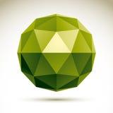 Vector abstract 3D voorwerp, het malplaatje van het ontwerpelement voor technolog Royalty-vrije Stock Afbeelding