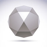 Vector abstract 3D voorwerp, het malplaatje van het ontwerpelement voor technolog Royalty-vrije Stock Foto's