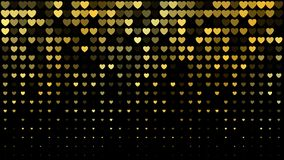 Vector abstract dark background with golden hearts Royalty Free Stock Photos