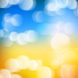 Vector abstract defocused bokeh lights background. Festive blurred background with bokeh effect for holidays, parties, birthdays. Vector abstract defocused Stock Images