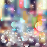Vector abstract defocused bokeh lights background. Festive blurred background with bokeh effect for parties, nightlife night club. Stock Photos