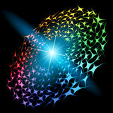 Vector abstract design. Abstract vector glowing background #84. For your design Royalty Free Stock Photography