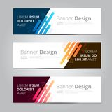 Vector abstract design banner template. vector illustration